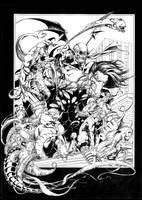 Darkness Double page by joebenitez