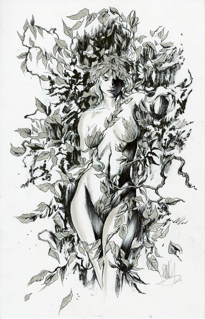 Alex Ross Poison Ivy Inks by joebenitez