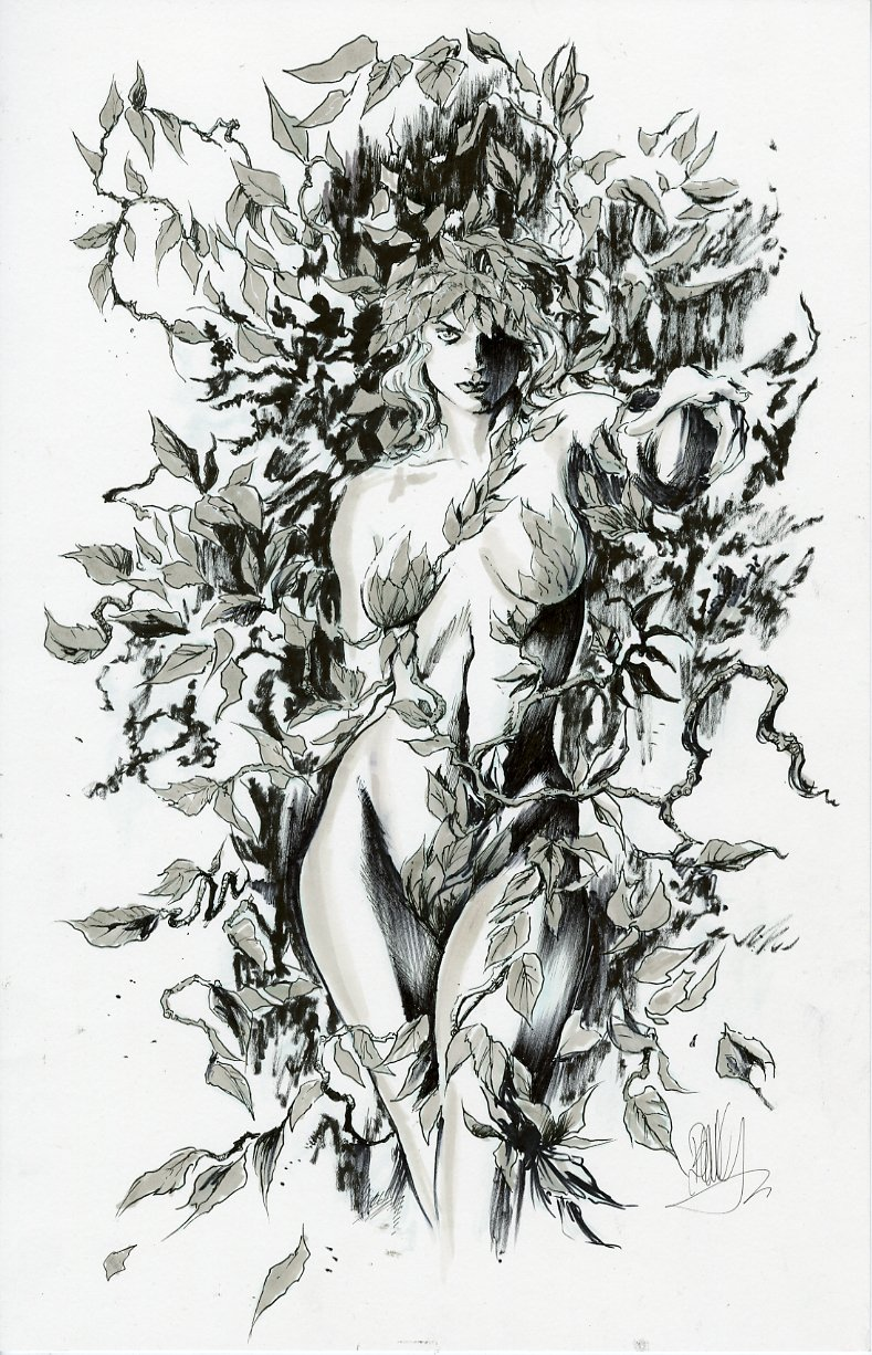 Alex Ross Poison Ivy Inks by joebenitez