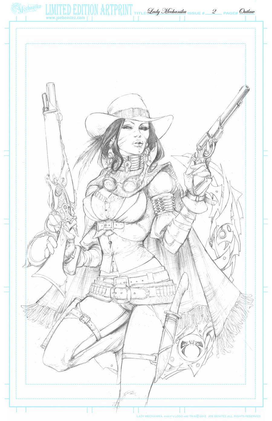 Lady M2 Outlaw Print by joebenitez
