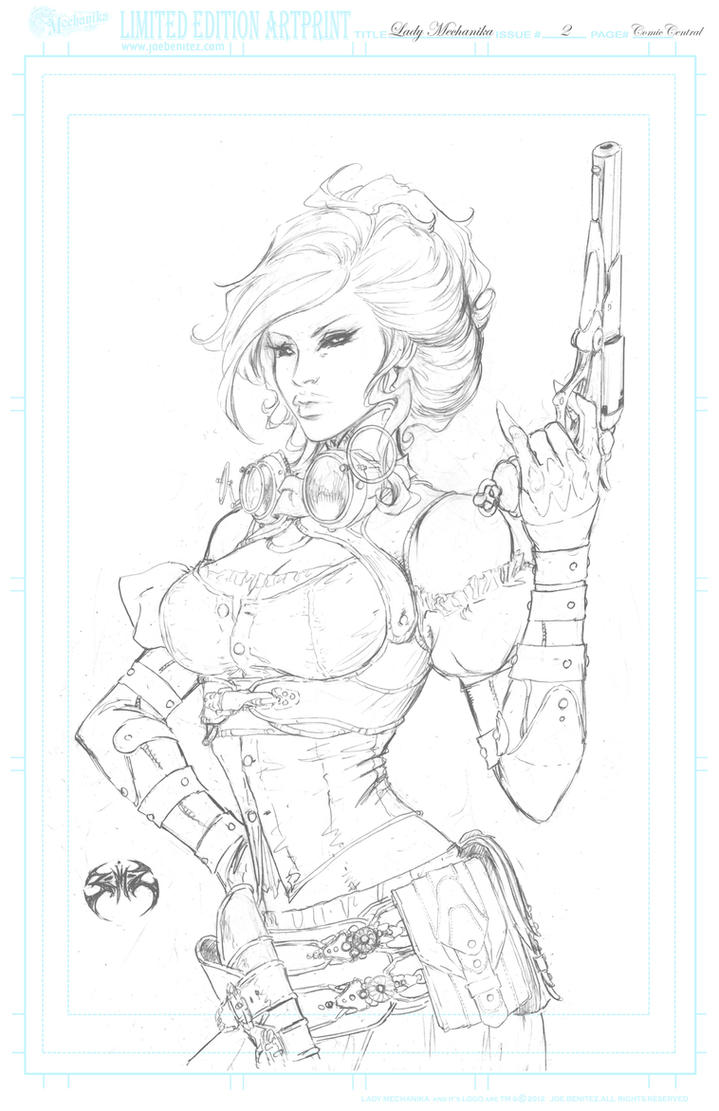 Lady M Comic Central pencil   Print by joebenitez