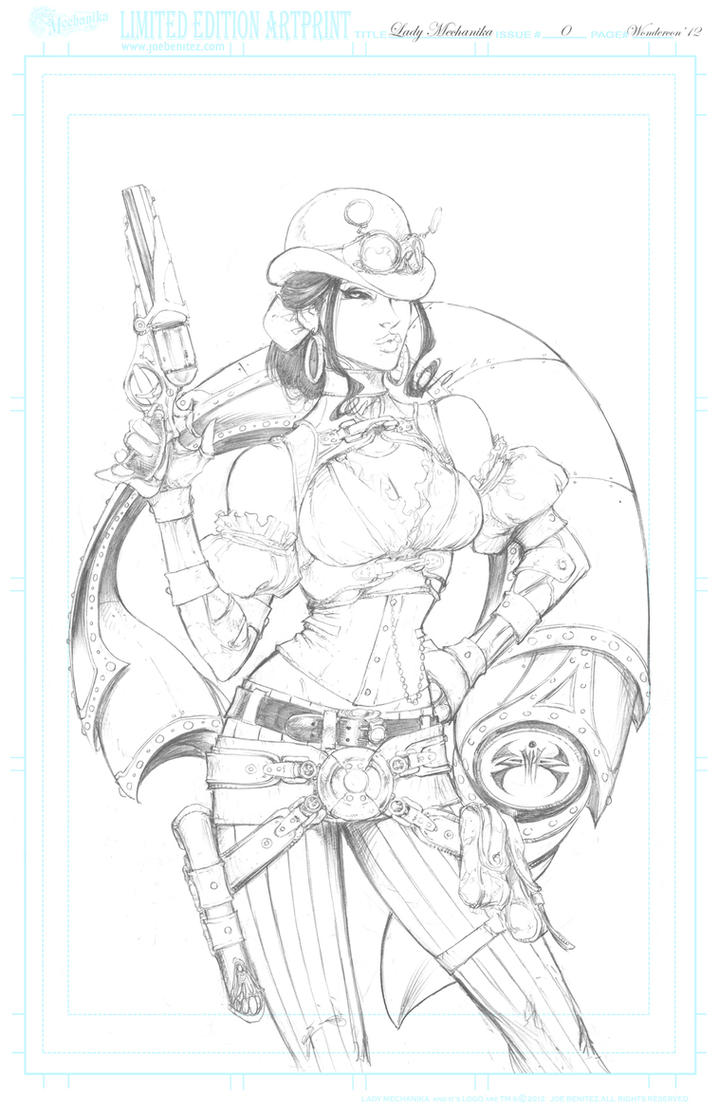 Lady M 0 Wondercon'11 pencil Print by joebenitez