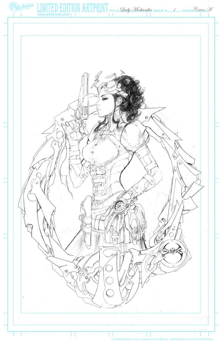 Lady M 1 Cover Pencil Print by joebenitez
