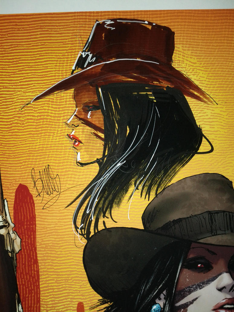 Lady M Outlaw#113/200 w/sketch by joebenitez