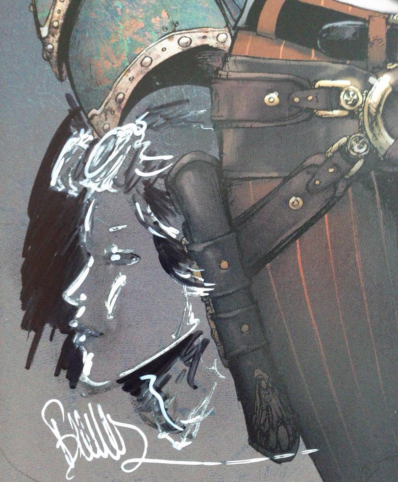 Lady M wondercon closeup sketch by joebenitez