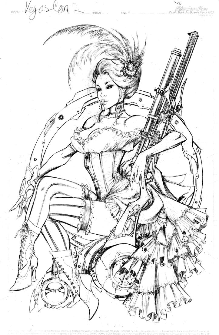 Lady Mechanika Saloon girl by joebenitez
