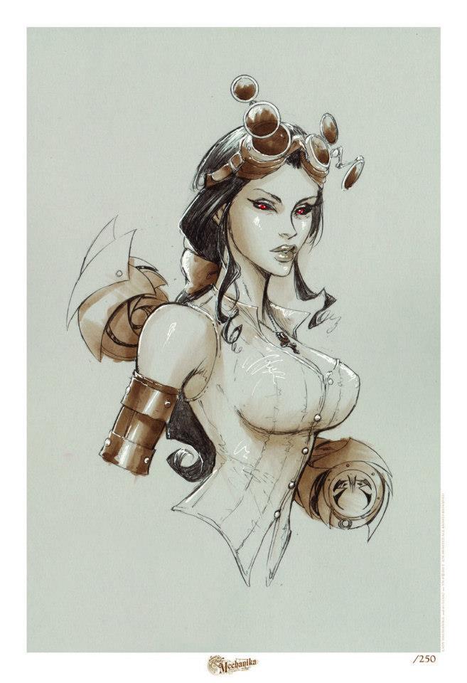 Lady M Sepia Print by joebenitez