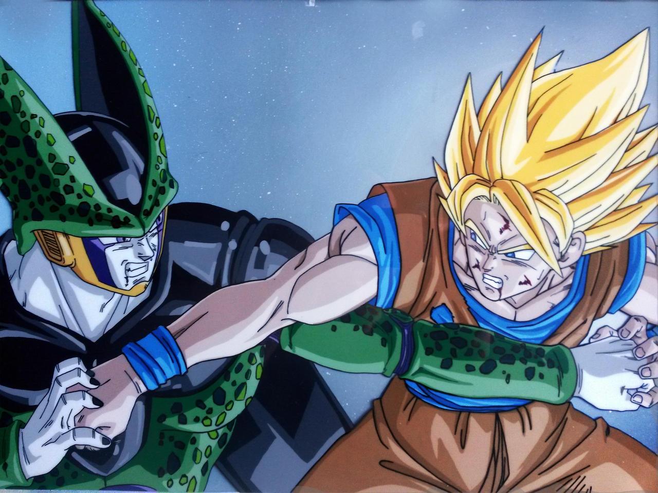Cell Vs Goku by tenro1 on DeviantArt