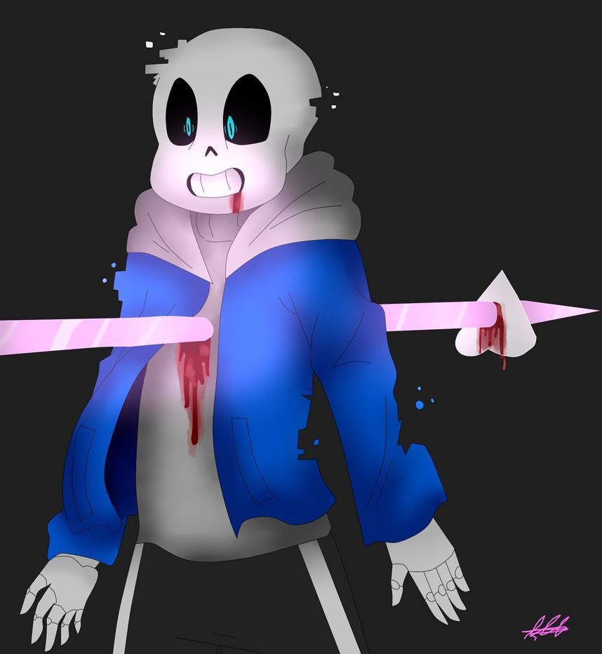 [Glitchtale]Sans's Death by WaterFox-Studios on DeviantArt