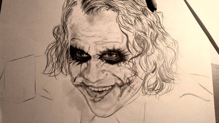 The Joker WIP 1 by MarcLof
