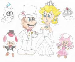 Mario and Peach's wedding by Lazbro64
