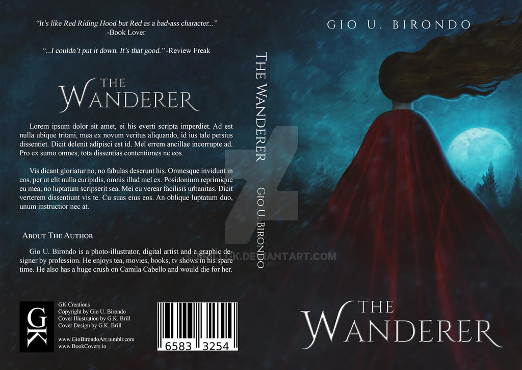 Premade Book Cover Art : The wanderer premade book cover by brillgk on deviantart