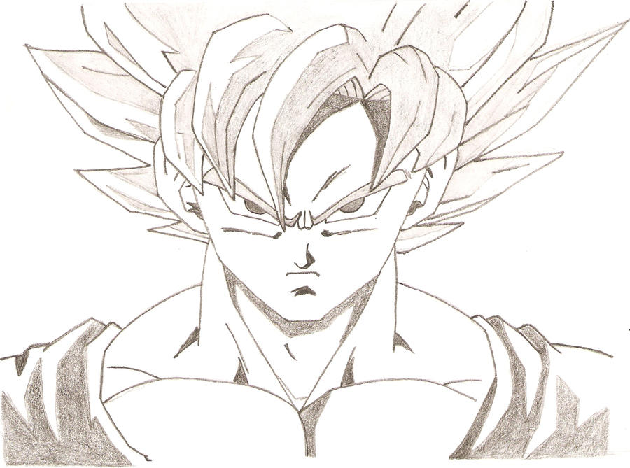 Goku in Super Saiyan by Cmmv on DeviantArt