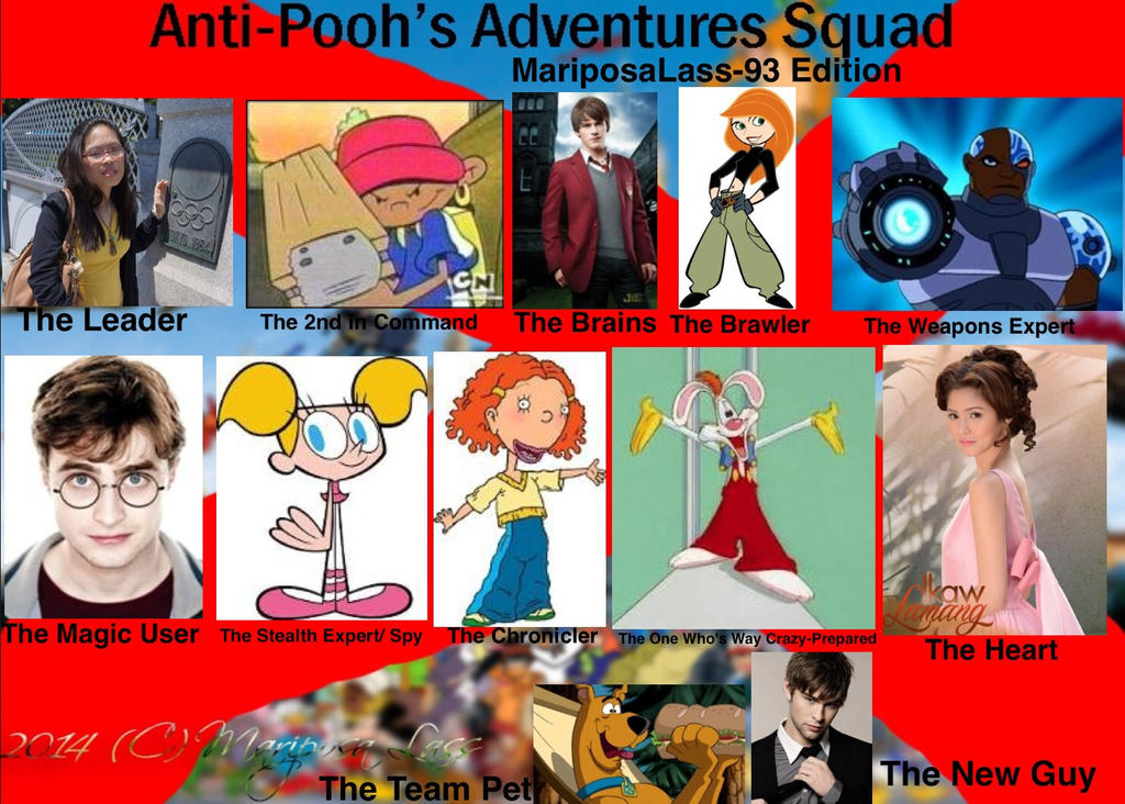 My Anti-Pooh's Adventures Squad 2.0 by MariposaLass-93