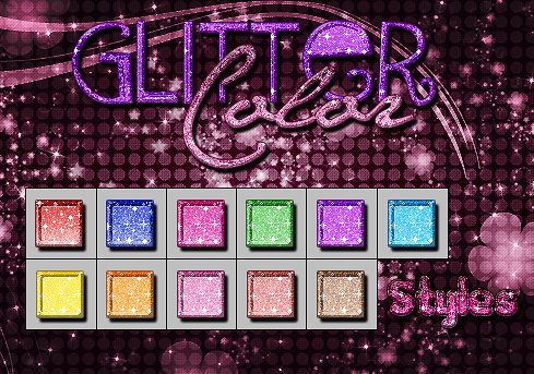 +Glitter color styles by ButtterflyCry