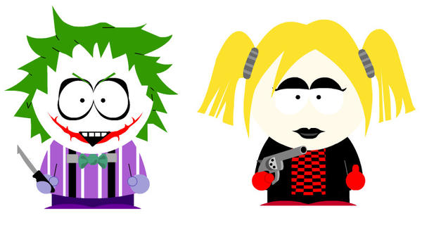 South Park : Joker and Harley by fannychichou