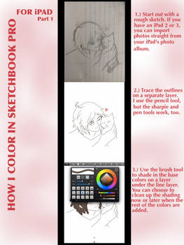 How I color in Sketchbook Pro for iPad-Part 1