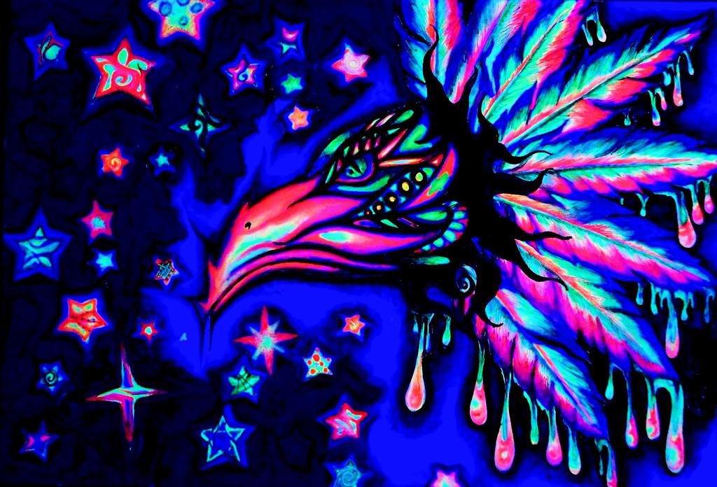 Watcher of the Stars....(under black light) by nicostars
