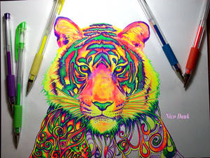 Psychedelic Tiger (WIP1)