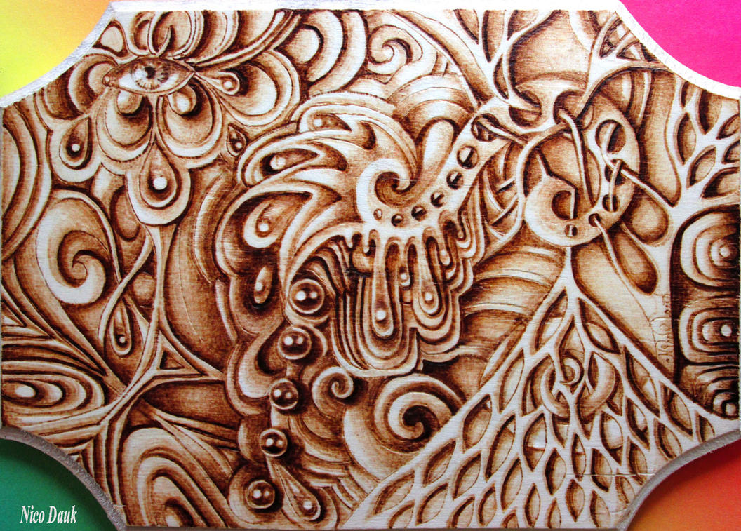 Abstract Woodburning (+ Time lapse vid) by nicostars