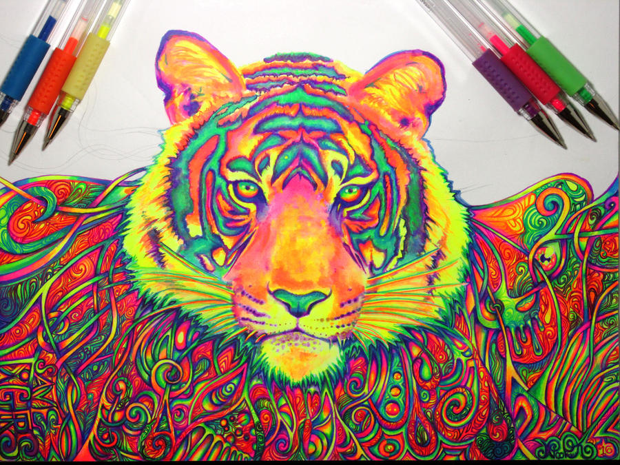 Psychedelic Tiger (WIP3) by nicostars