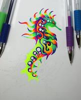 Psychedelic Seahorse (WIIP) by NicoDauk