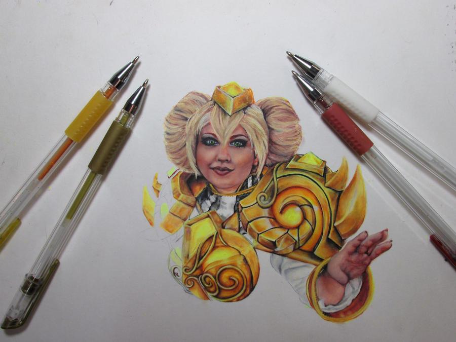 Chromie (Gel pen, WIP) by NicoDauk