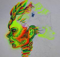 Gel pen art, work in progress 2.