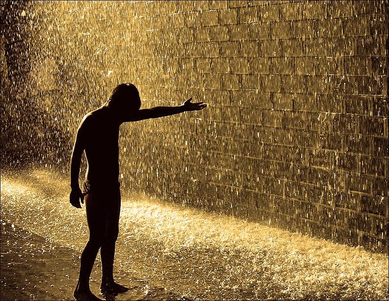 Feel the rain on your skin..