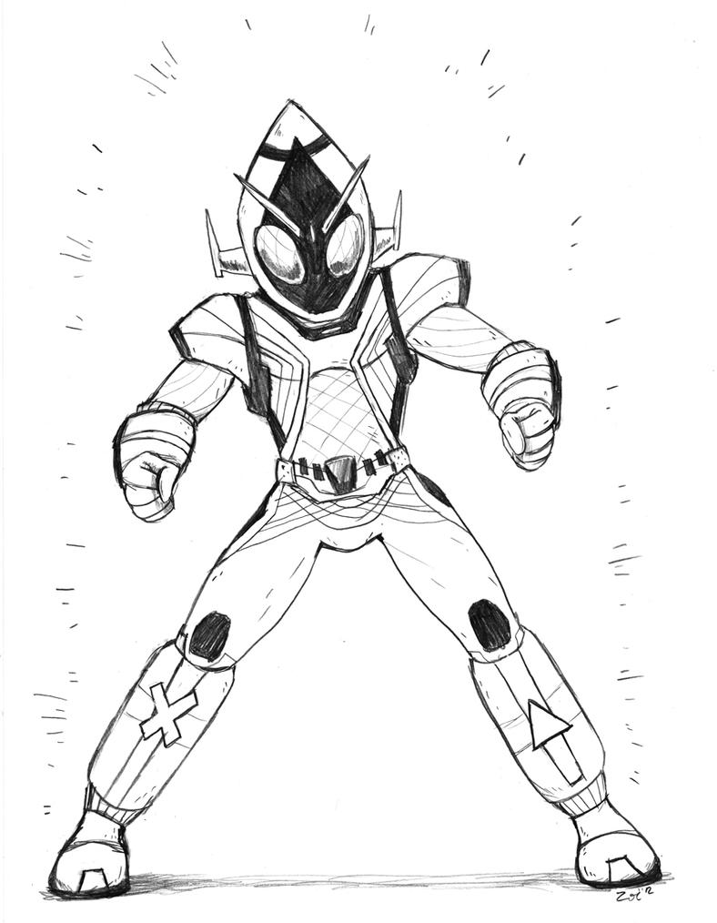 kamen rider coloring pages - photo#1