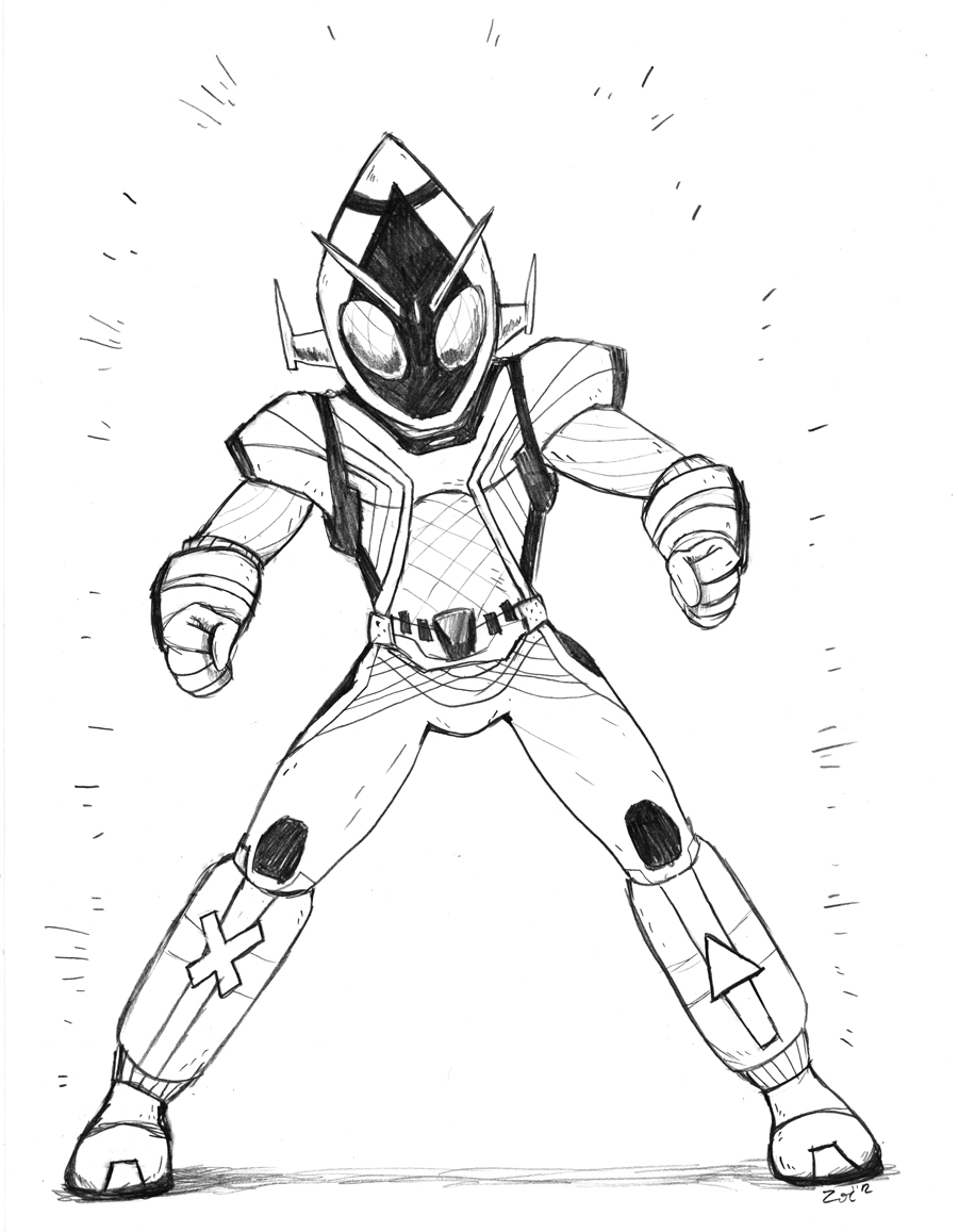 Sc Kamen Rider Fourze By Zoemoss On Deviantart Coloring Pages Kamen