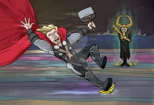 Loki Leaves Bananas Around Rainbow Bridge