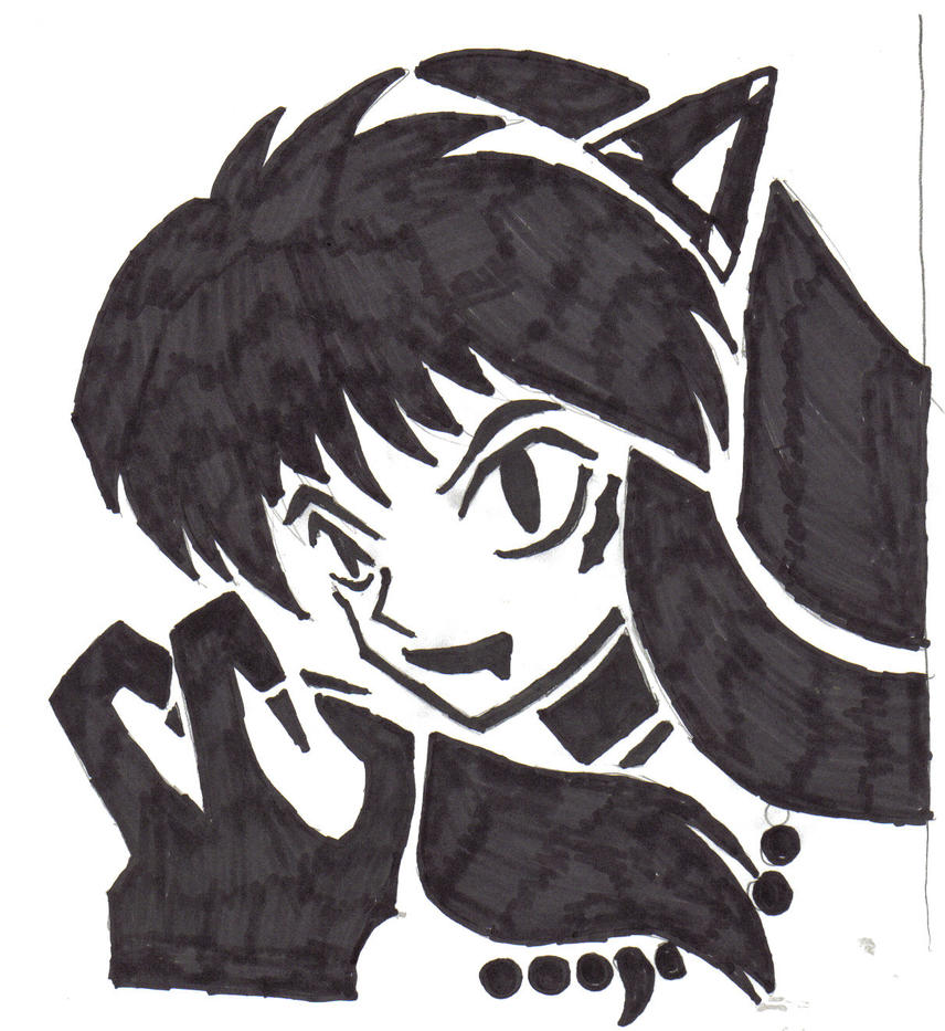 Inuyasha pumpkin stencil by gumbah on deviantart