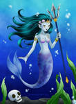 100 Creatures Challenge - 25 -Mermaid by Lily-Skadi