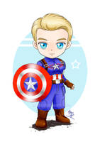 Chibi Captain America by Lily-Skadi