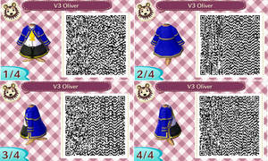 Animal Crossing New Leaf - VOCALOID Oliver QR Code
