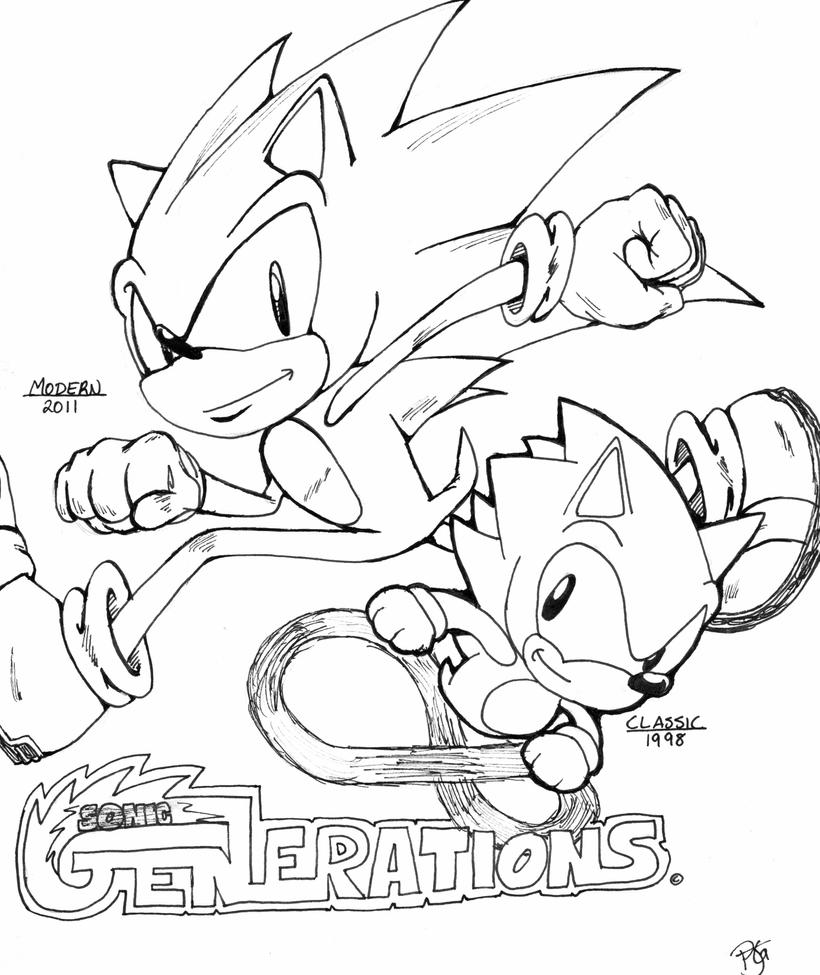 sonic generations coloring pages - Classic Super Sonic Coloring Pages