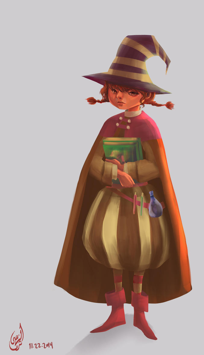 Witch character design by AL-Nuha