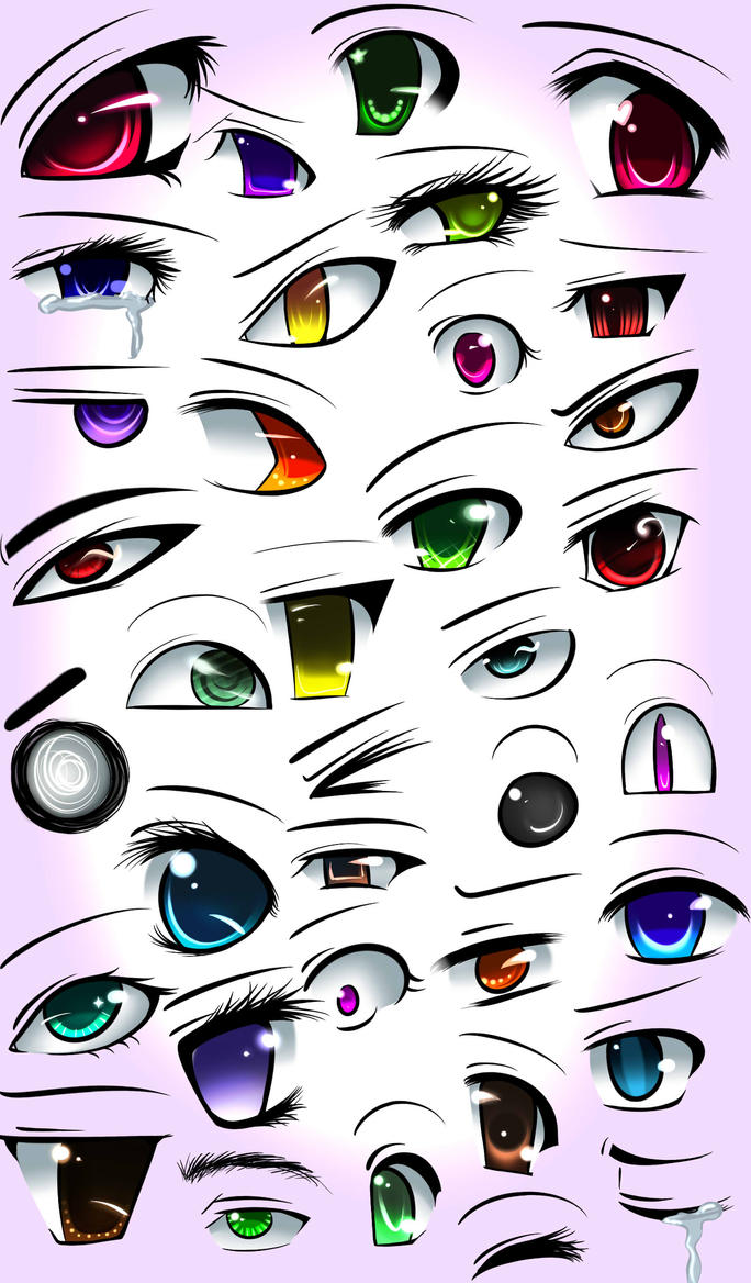 The Gallery For Simple Anime Eyes