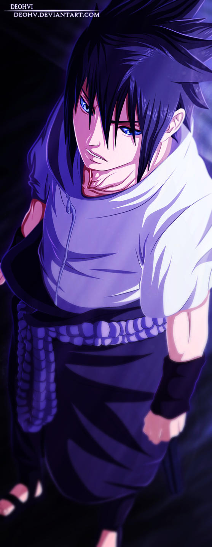 naruto 627 - coloring - sasuke scene by DEOHVI