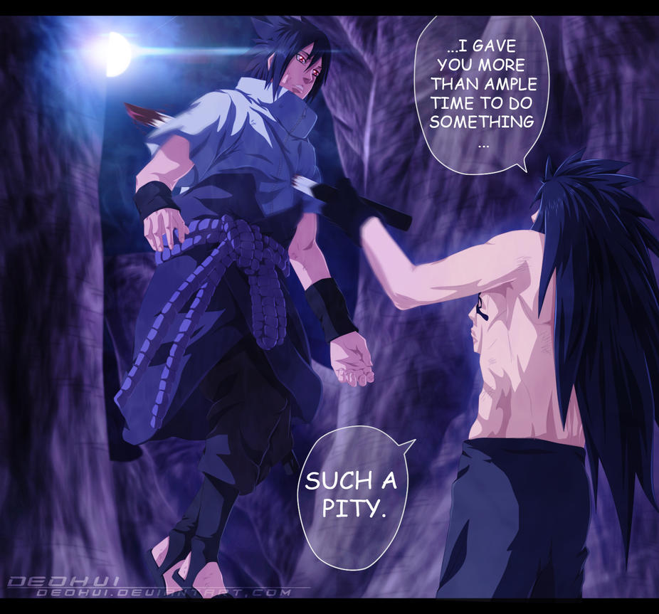 Naruto 661 - Sasuke vs Madara - coloring by DEOHVI