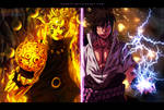 Naruto 674 - Kicking time - coloring