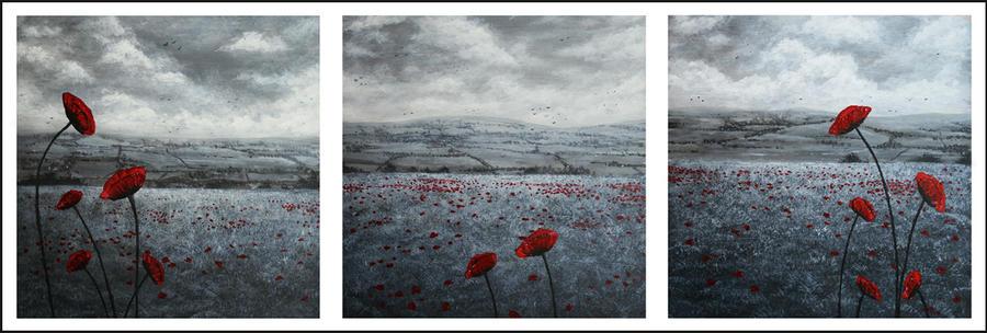 Poppies - triptych by spyroteknik