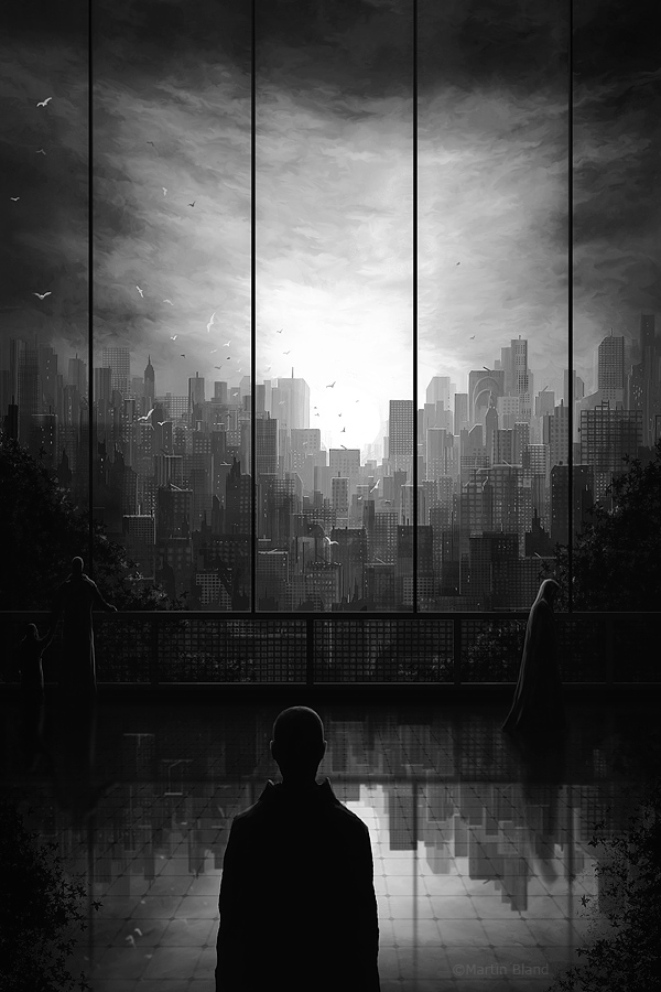 Exit Scene - Greyscale by spyroteknik