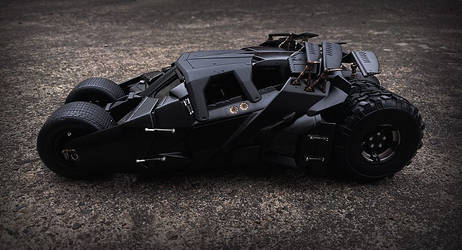 Custom painted 1:18 hotwheels batmobile