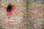 Brick Wall. Paint Spot_Texture