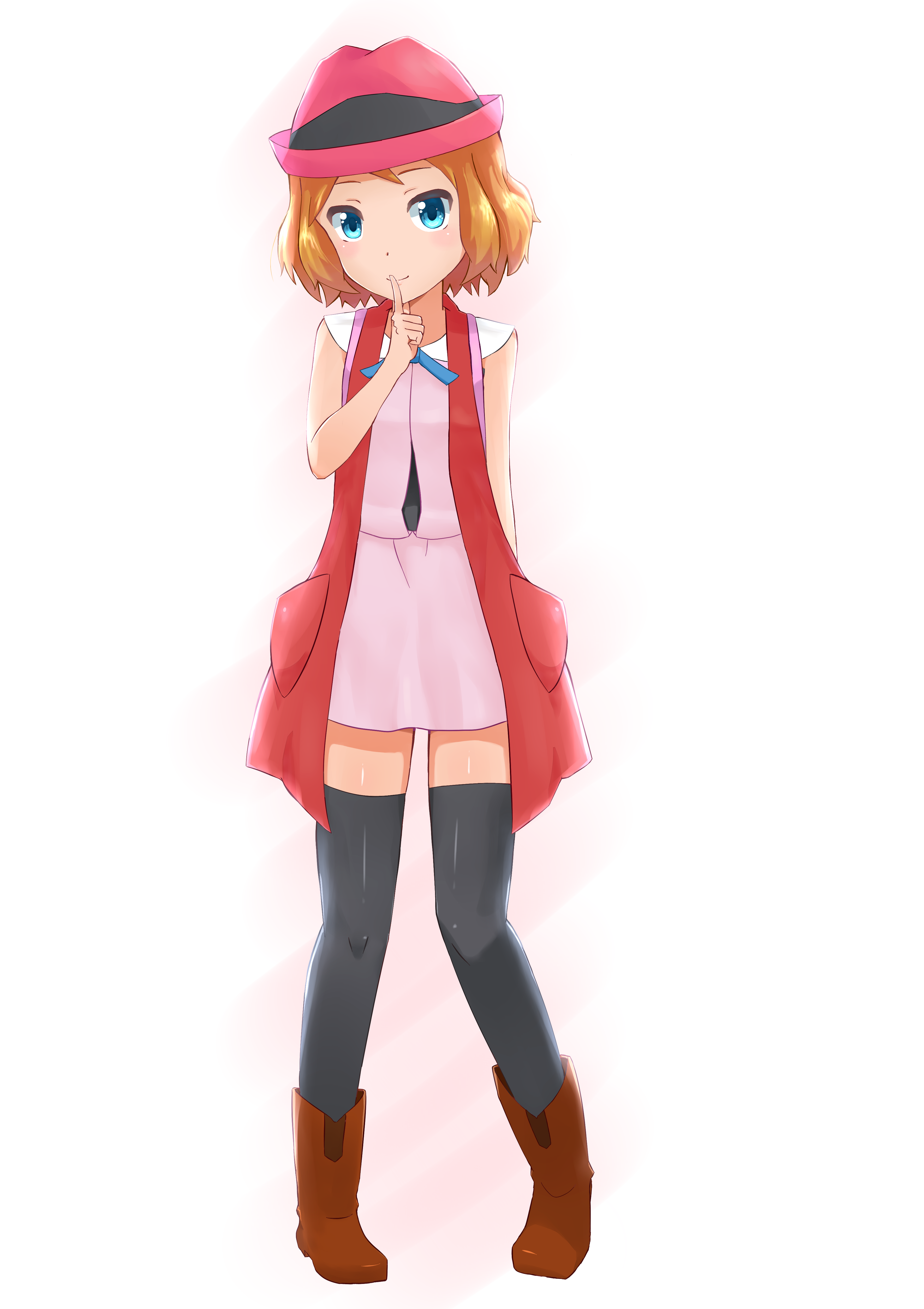Serena With Long Hair by PerryWhite on DeviantArt