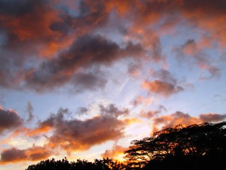 Burning Sun Set