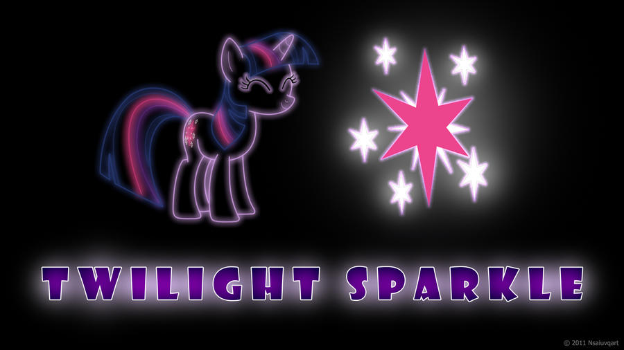 Twilight Sparkle Glow Wallpaper by nsaiuvqart