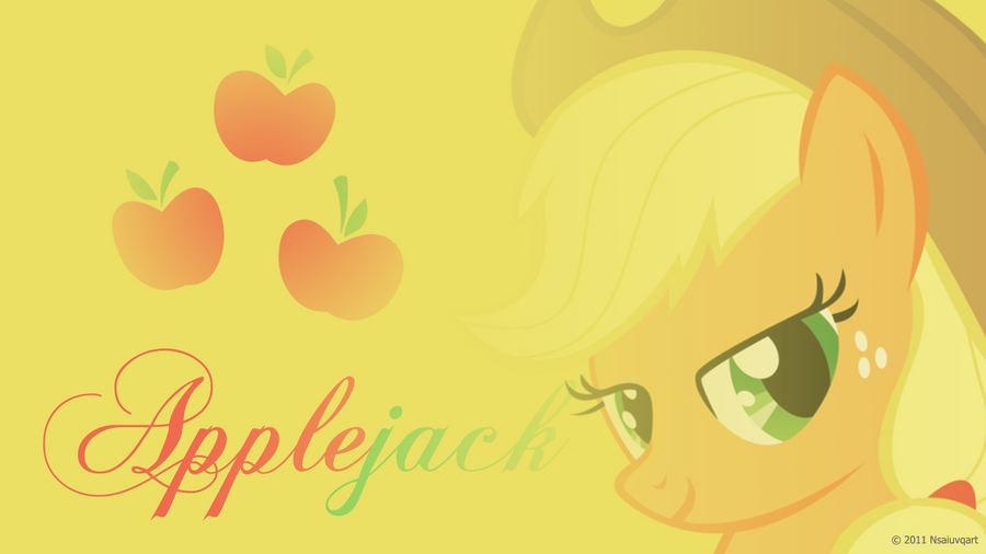 Applejack Headshot Wallpaper by nsaiuvqart